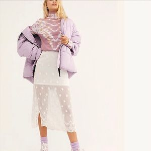 Free People Hailey Puffer Coat Jacket Lilac NWT